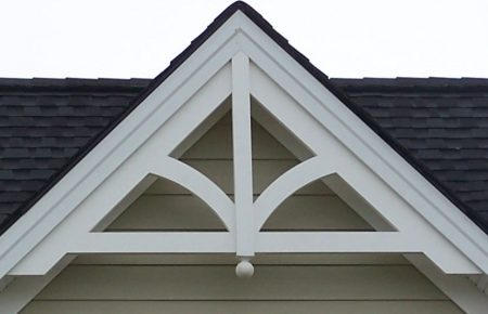 Gable pediment 201 river valley custom millwork for Decorative millwork accents
