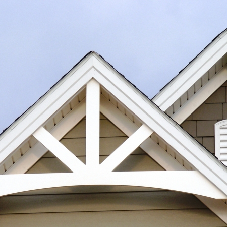 Gable pediments river valley custom millwork for Roof peak decorations